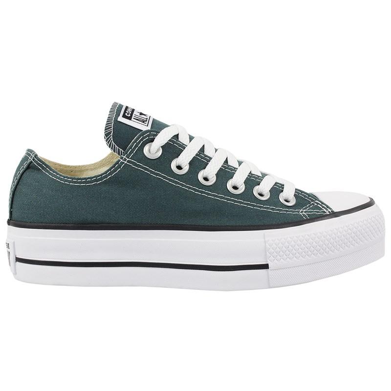 Tênis Converse Chuck Taylor All Star Plataform Verde Escuro Preto Branco
