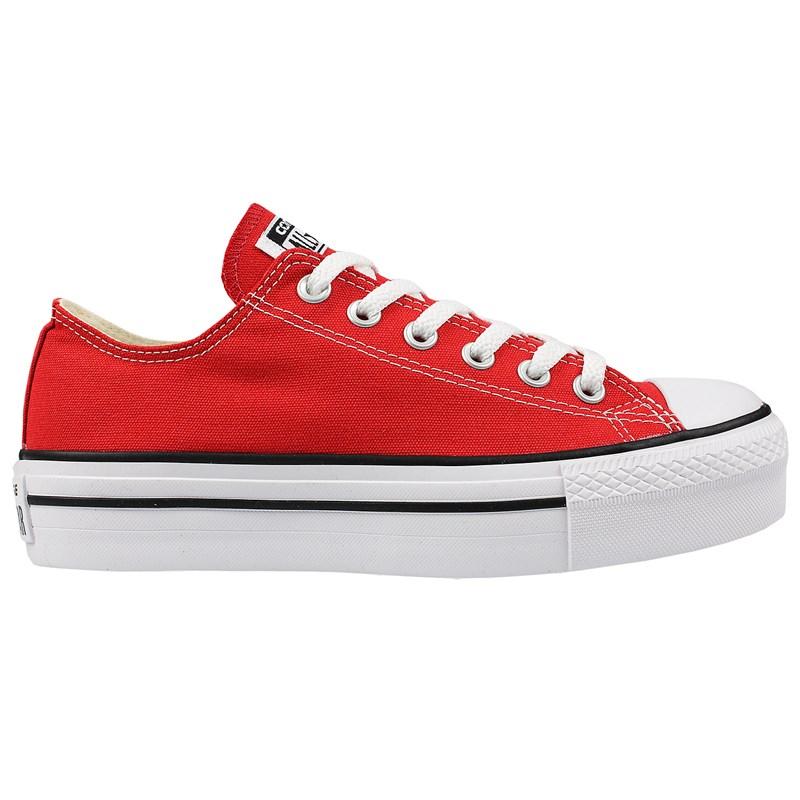 Tênis Converse Chuck Taylor All Star Plataform Vermelho Branco