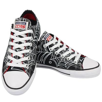 Tênis Converse Chuck Taylor All Star Pro Preto Vermelho Branco