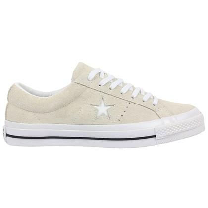 Tênis Converse One Star Vintage Suede Bege Claro Branco