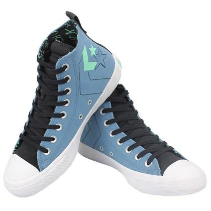 Tênis Converse UNT1TL3D Hi Azul Escuro Preto Branco