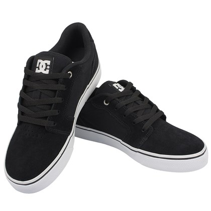 Tênis DC Shoes Anvil LA Black White