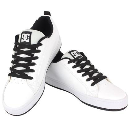 Tênis DC Shoes Court Graffik SD White Black White