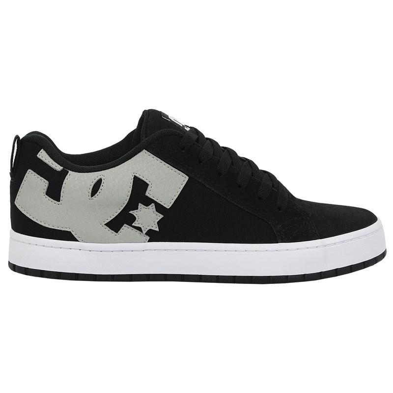 Tênis DC Shoes Court Graffik TX Black Grey White