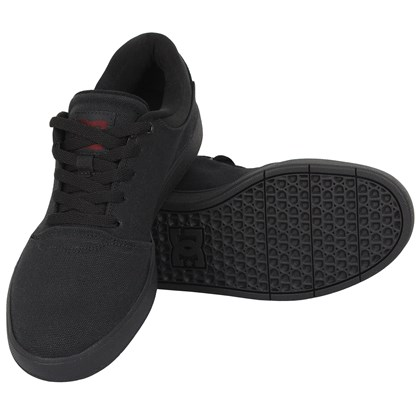 Tênis DC Shoes Crisis TX LA Black Black Dark Grey