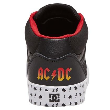Tênis DC Shoes Kalis Vulc Mid AC/DC Black White Red