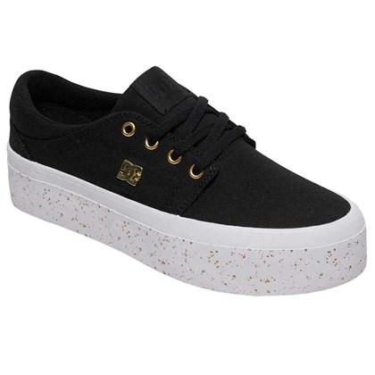 Tênis DC Shoes Trase Plataform Black Gold
