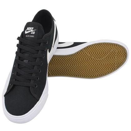 Tênis Nike SB BLZR Court Black White Black