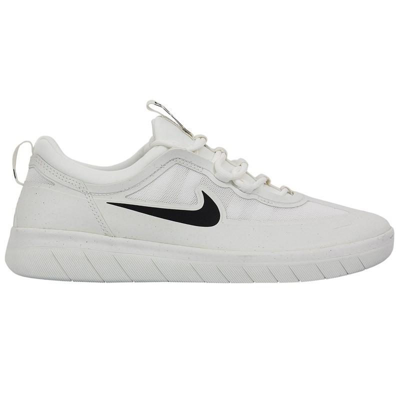 Tênis Nike SB Nyjah Free 2 White Black Blanc Sommet