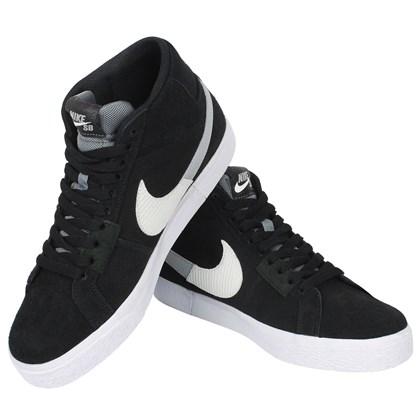 Tênis Nike SB Zoom Blazer Mid Premium Black Wolf Grey
