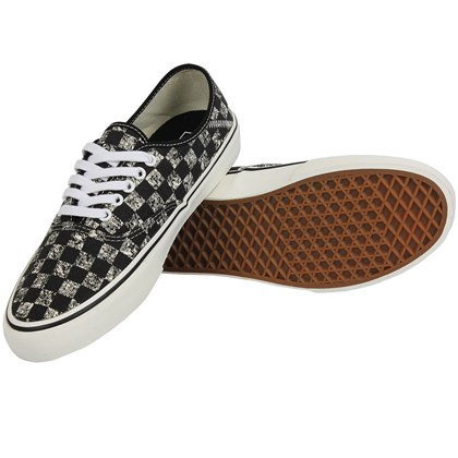 afcd6290c Tênis Vans Authentic SF Distressed Checkerboard Black Tênis Vans Authentic  SF Distressed Checkerboard Black