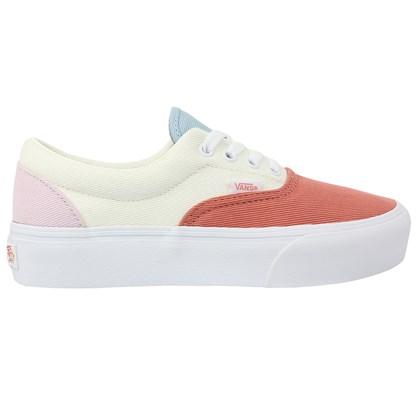 Tênis Vans Era Platform Twill Pastel Block True White