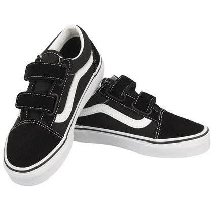 Tênis Vans Infantil Old Skool Black True White