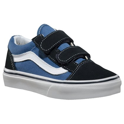 Tênis Vans Infantil Old Skool Navy True White
