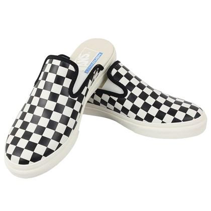 Tênis Vans Mule SF Leather Checkerboard Black White