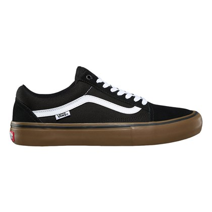 Tênis Vans Old Skool Pro Black White Medium Gum