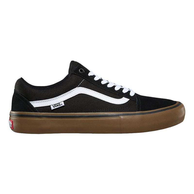 Tênis Vans Old Skool Pro Black White Medium Gum