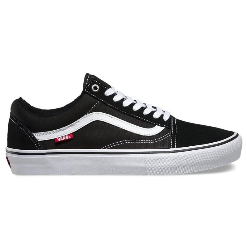 Tênis Vans Old Skool Pro Black White Red