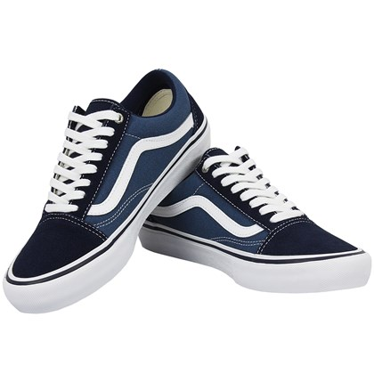 Tênis Vans Old Skool Pro Navy White