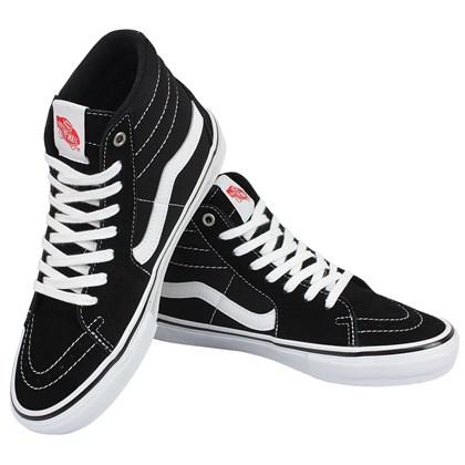Tênis Vans SK8-Hi Pro Skate Classics Black White