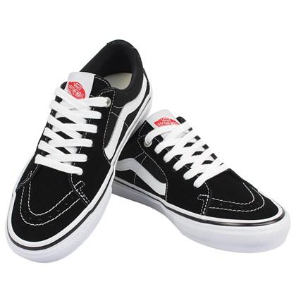 Tênis Vans SK8 Low Skate Classics Black White