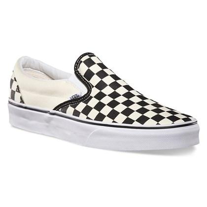 Tênis Vans Slip On Checkerboard White Black