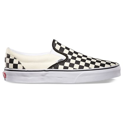 Tênis Vans Slip On Checkerboard White Black