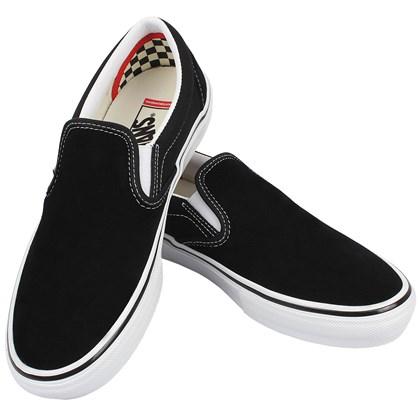 Tênis Vans Slip On Skate Classics Black White