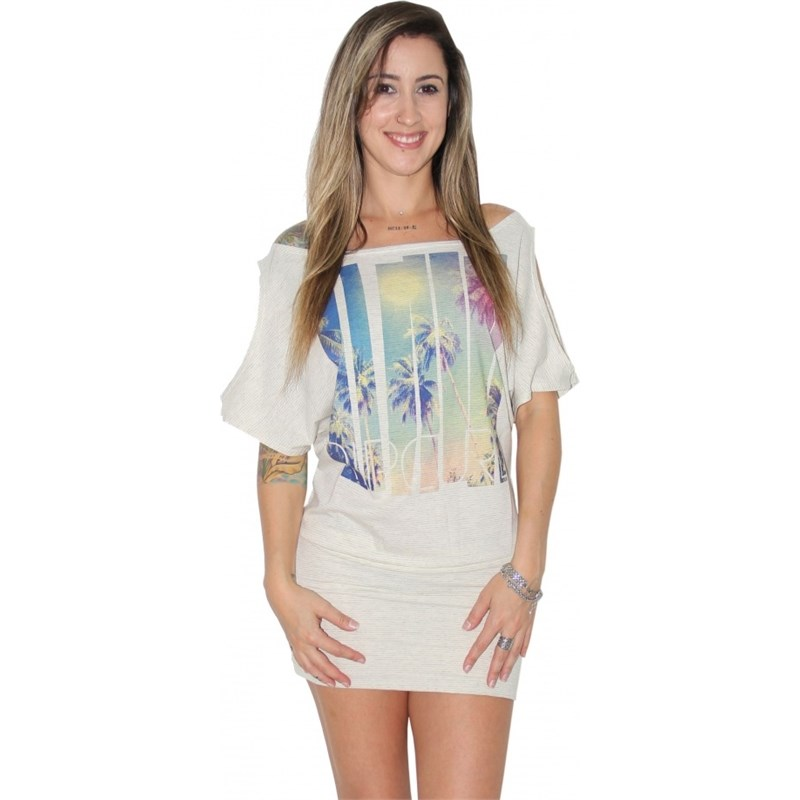 VESTIDO RIP CURL HOLLYWOOD OFF WHITE