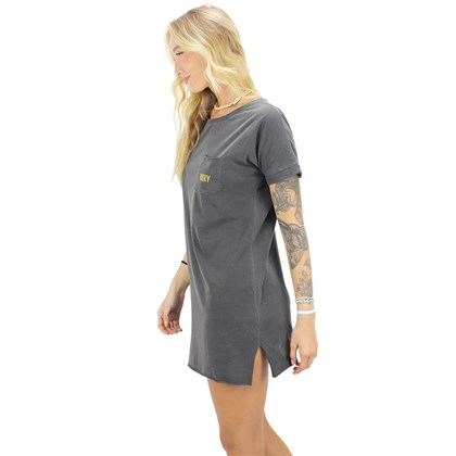 Vestido Roxy Made Of Sunshine Cinza
