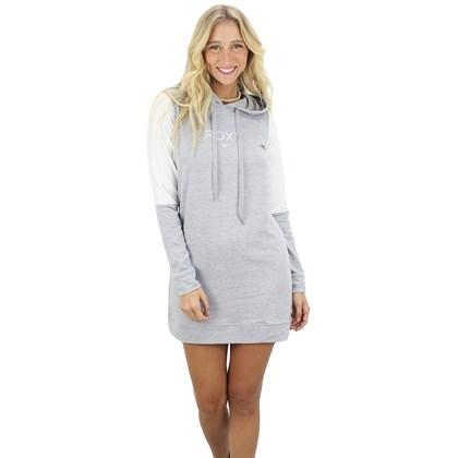 Vestido Roxy Morning Slide Cinza Mescla