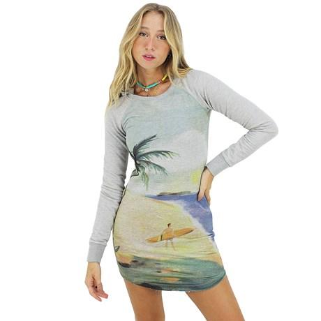 Vestido Roxy Tenerife Sea Cinza Mescla